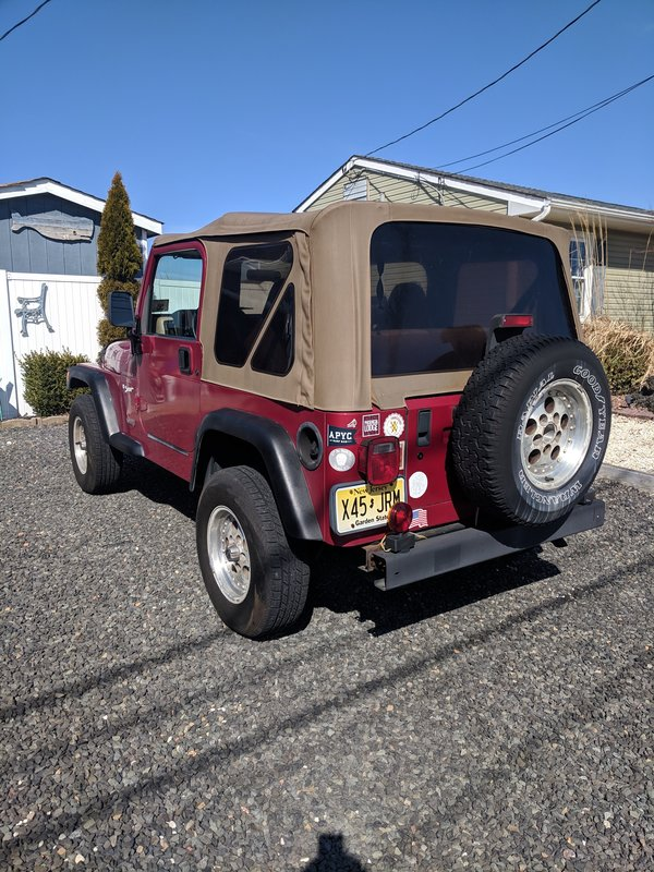 1998 Jeep Wrangler Sport, Tow Behind Cars RV For Sale By ...