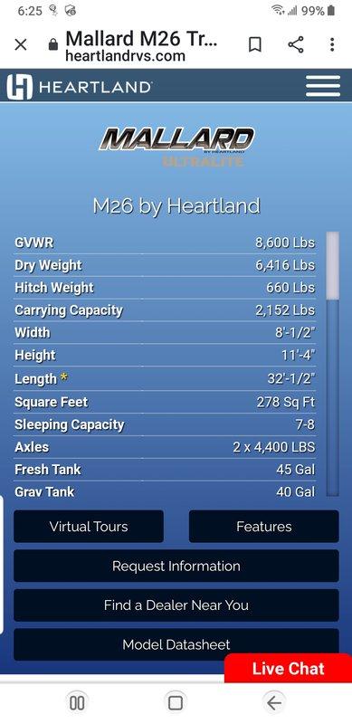 2017 Heartland Mallard M26