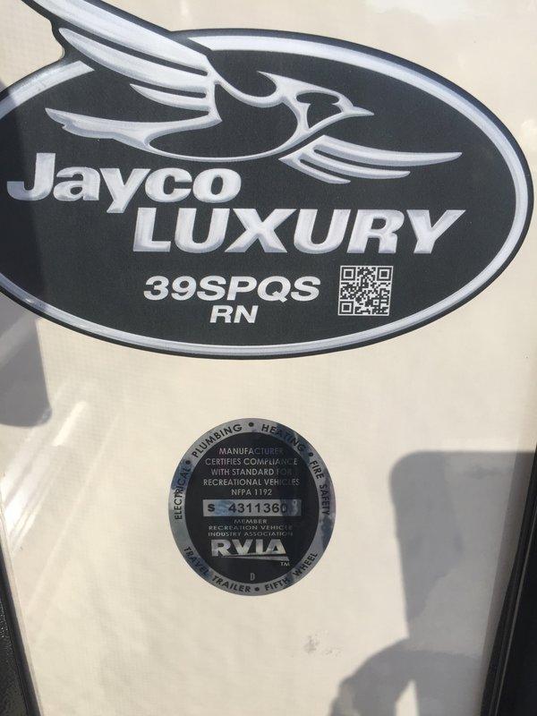 2017 Jayco Pinnacle 39SPQS