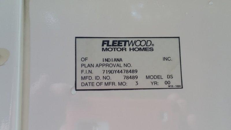 2000 Fleetwood American Eagle 40DS