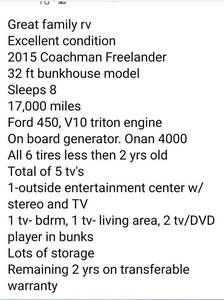 2015 Coachmen Freelander 32BH