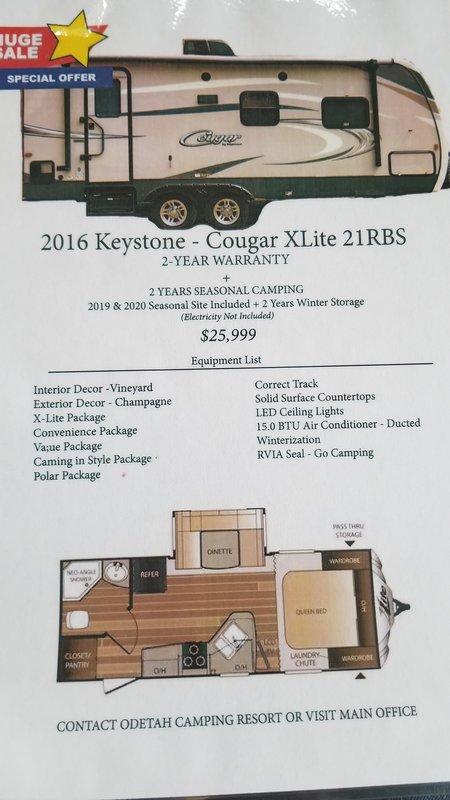 2016 Keystone Cougar Xlite 21 RBS