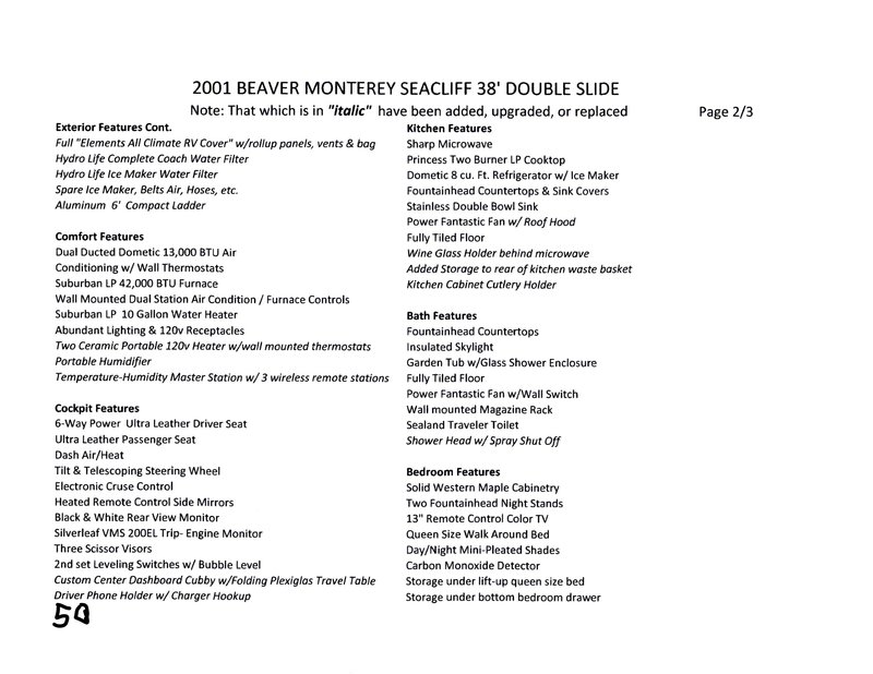 2001 Beaver Monterey SeaCliff
