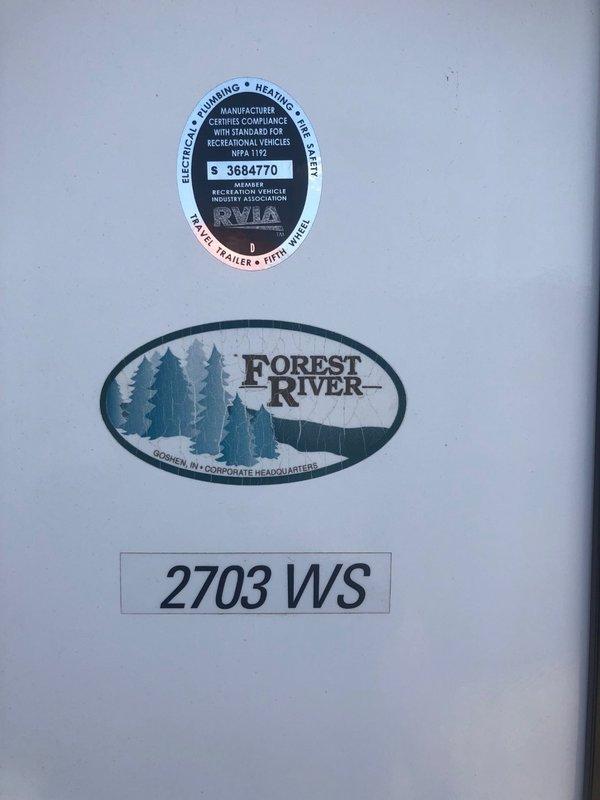 2015 Forest River Rockwood Ultra Lite 2703WS