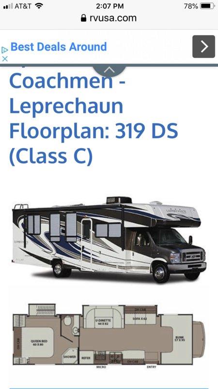 2014 Coachmen Leprechaun 319DS Ford 450