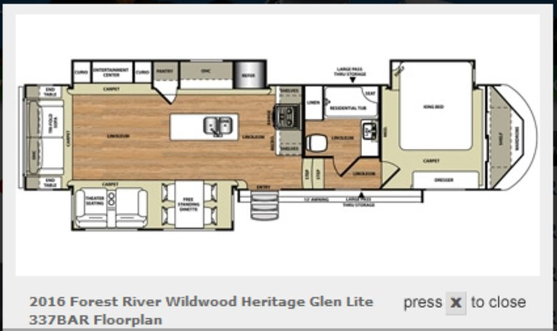 2016 Forest River Wildwood Heritage Glen 337BAR