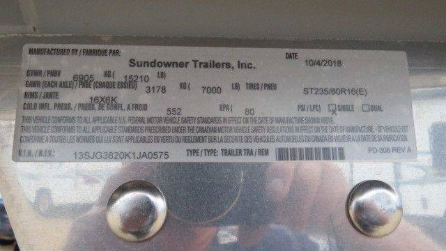 2019 Sundowner Horizon Toy Hauler Sundowner Horizon Toy Hauler 1786 Pro Grade Garage Model