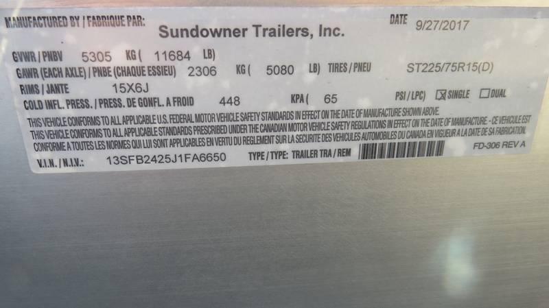2019 Sundowner  9624 DECKOVER