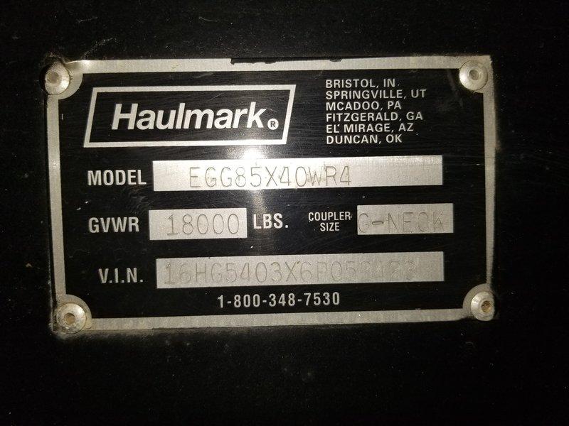 2006 Haulmark Haulmark EDGE- EGG85X40WR4