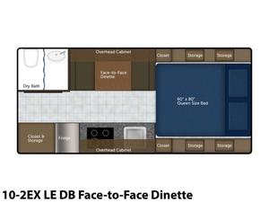 2022 Northern Lite Limited Edition 10-2EX LE DB Face-to-Face Dinette