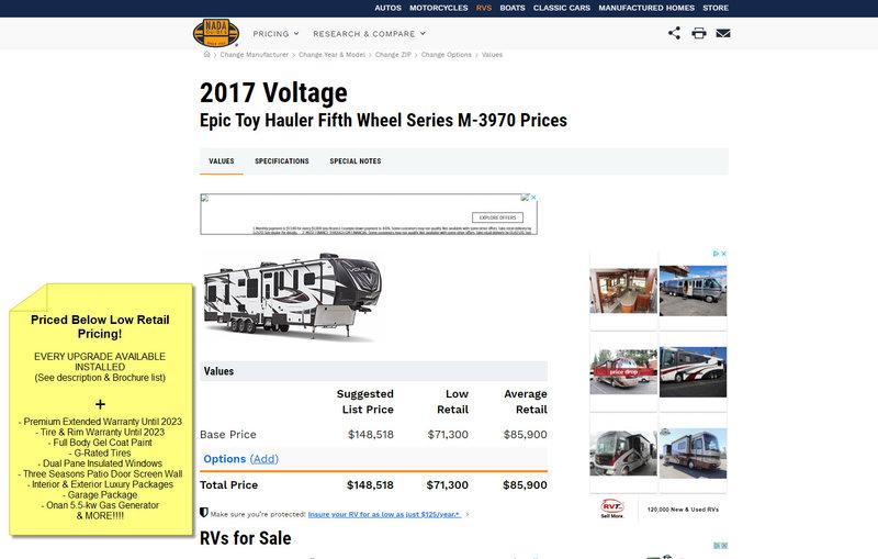 2017 Dutchmen Voltage Epic 3970