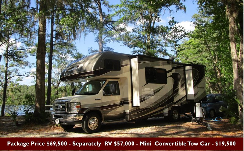 2016 Forest River Sunseeker 2500TS With 2015 Mini Covertible Tow Vehicle