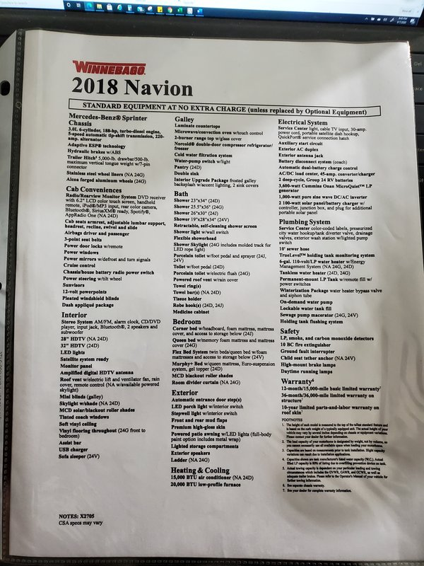 2018 Winnebago Navion 24D