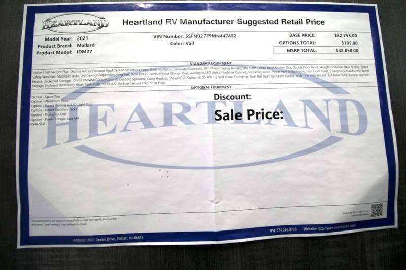 2021 Heartland Mallard M27