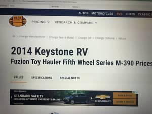 2014 Keystone Fuzion 390