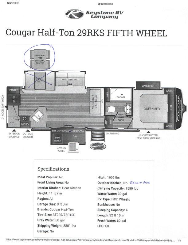 2019 Keystone Cougar Half-Ton 29RKS