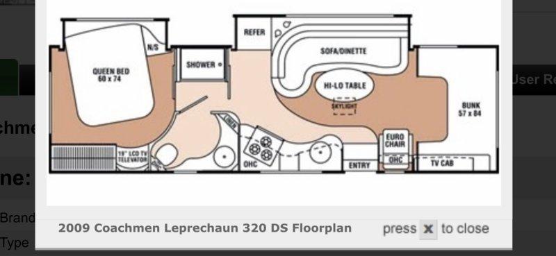 2009 Coachmen Leprechaun 320DS