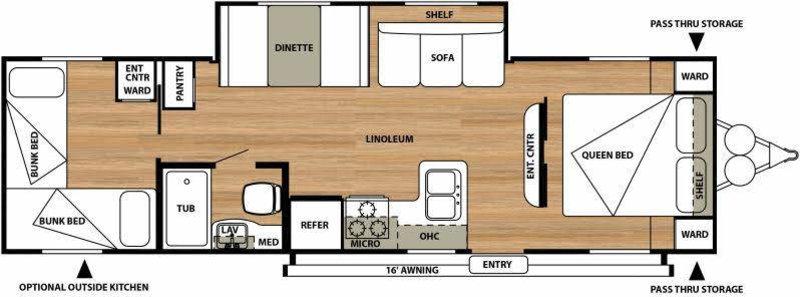 2015 Forest River Salem Cruise Lite 272QBXL