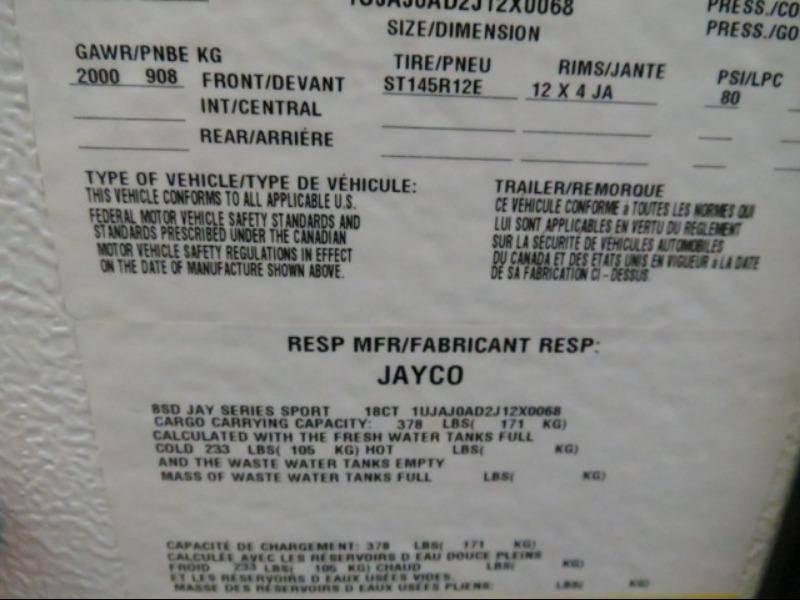 2018 Jayco Jayco 8SD