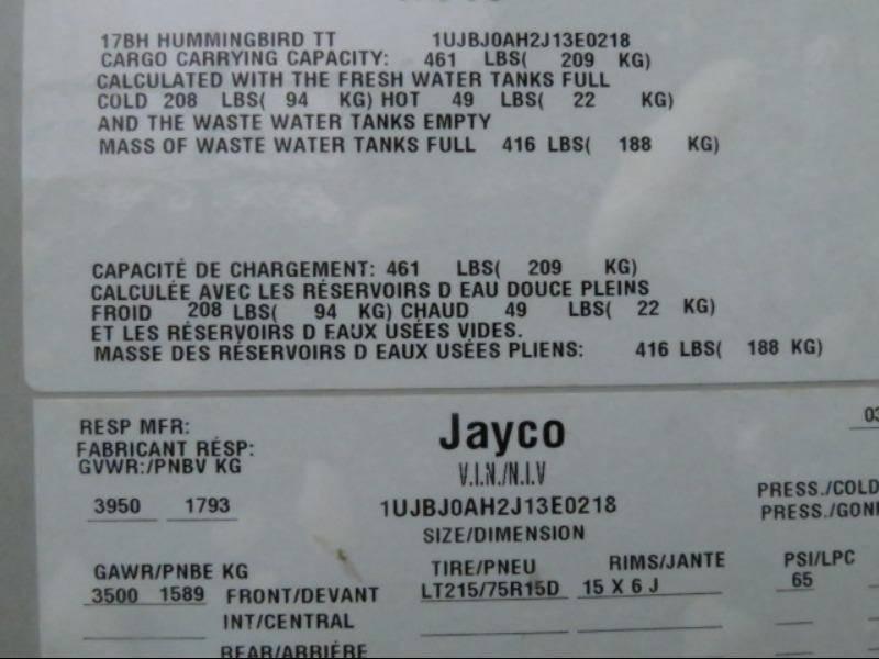 2018 Jayco Jayco 17BH