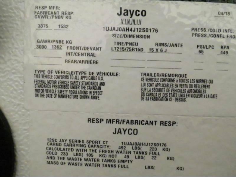 2018 Jayco Jay Sport 12SC
