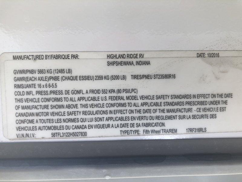 2017 Open Range Roamer RF316RLS
